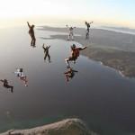 Animation freefly à Propriano en Corse par Bouloc : formation tête en haut à 9