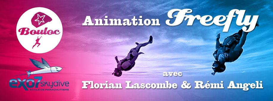 Bannière web pour l'animation FF Freefly avec exo7skydive