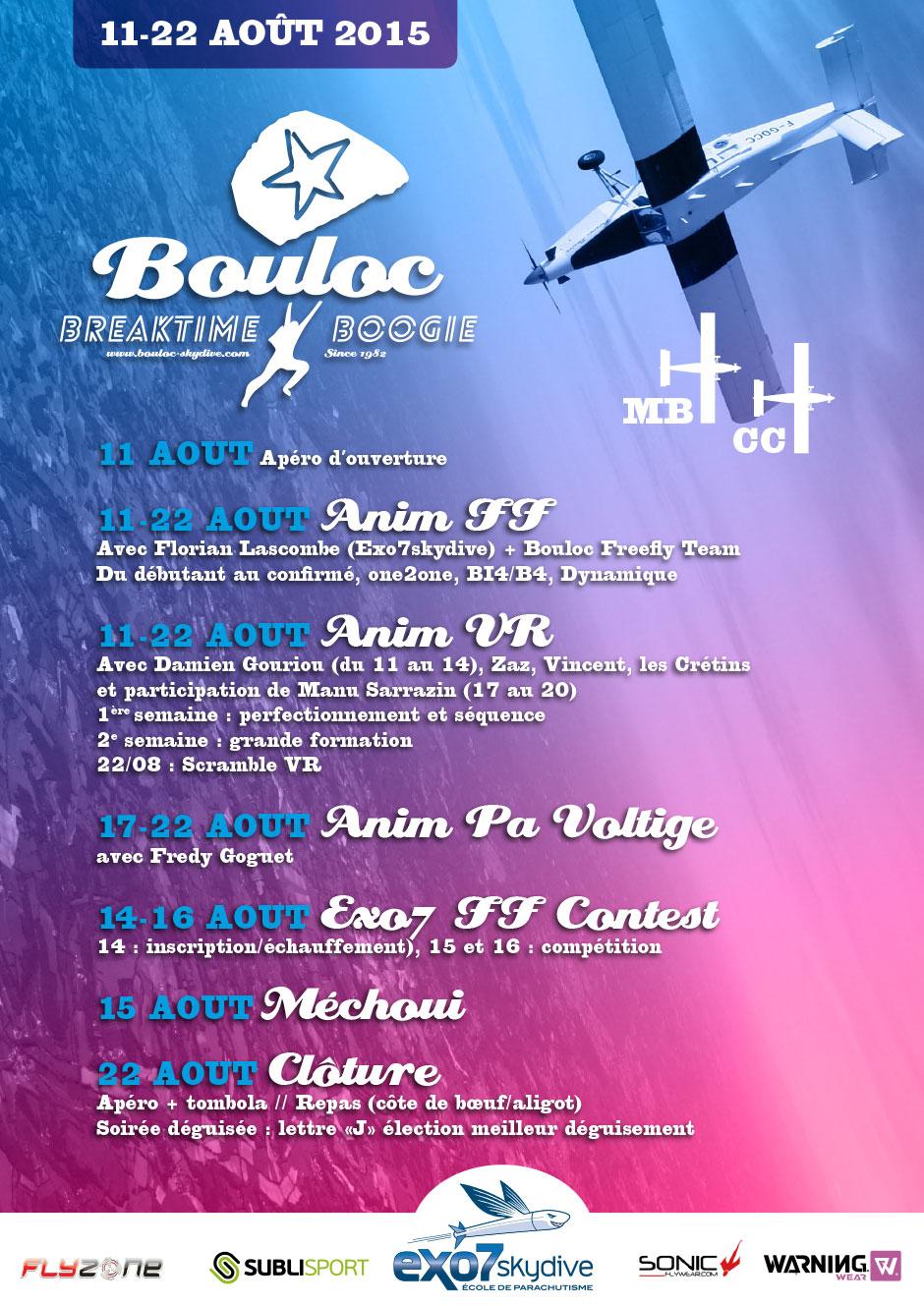 Affiche du Bouloc Breaktime Boogie 2015
