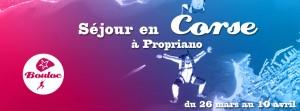 Bannière web pour le séjour en Corse au printemps 2016, du 26 mars au 10 avril