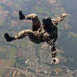 Perfectionnement en parachutisme : stage de préparation au concours INSSOCR, dos