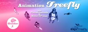 Bannière web pour l'animation Freefly à l'école de parachutisme de Bouloc