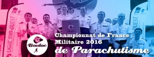Bannière web pour le bilan du Championnat de France Militaire de Parachutisme 2016 à Bouloc
