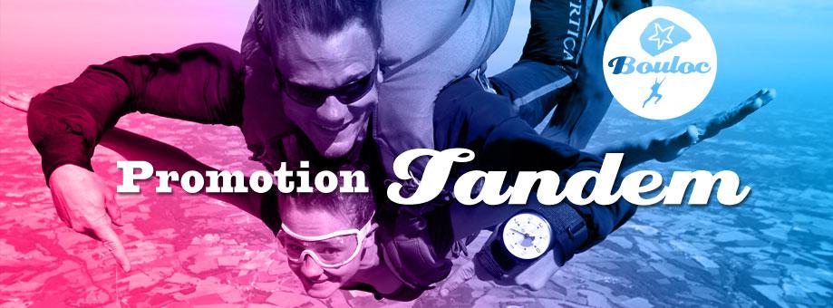 Bannière web pour l'offre promotionnelle sur les sauts en parachute en tandem à Bouloc