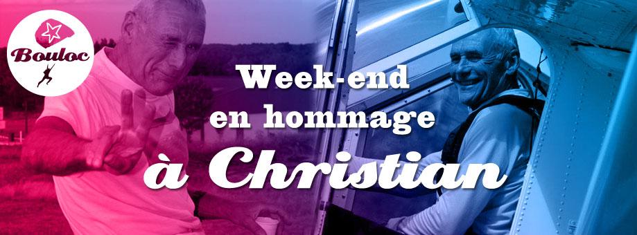 Bannière web pour le week-end « Le Clandestin » en hommage à Christian