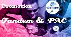 Bannière Facebook pour l'offre promotionnelle sur les sauts en tandem et les stages PAC Progression Accompagnée en Chute (cliquer sur la photo)