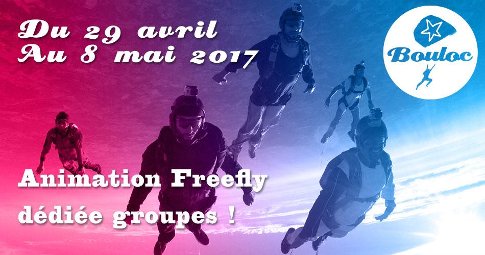 Bannière Facebook pour l'animation Freefly dédiée groupes du 29 avril au 8 mai