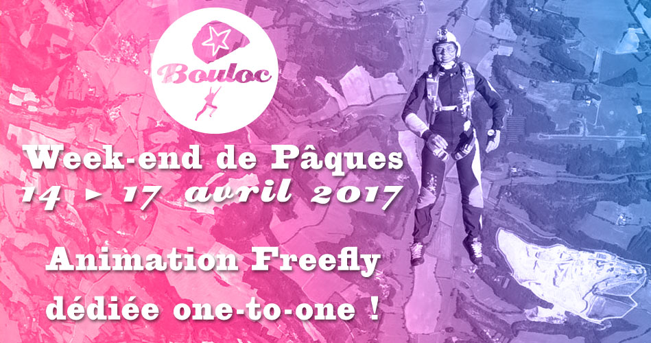 Bannière Facebook pour l'animation Freefly dédiée one-to-one du 14 au 17 avril