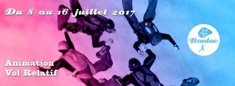 Bannière web pour l'animation Vol Relatif du 8 au 16 juillet 2017