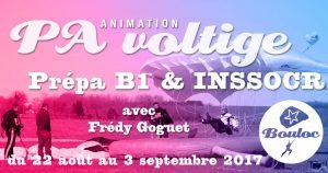 Bannière Facebook pour l'animation PA Précision d'Atterrissage et Voltige, préparation B1 et INSSOCR avec Frédy Goguet du 22 août au 3 septembre 2017