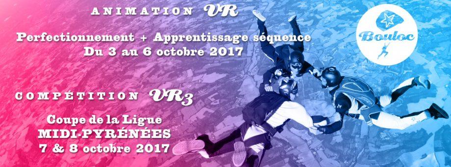 Bannière web pour l'animation VR du 3 au 6 octobre + Compétition VR3 Coupe de la Ligue Midi-Pyrénées les 7 et 8 octobre