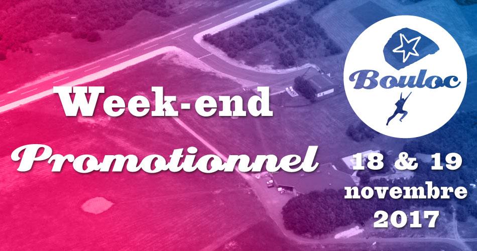 Bannière Facebook pour le week-end promotionnel les 18 et 19 novembre 2017