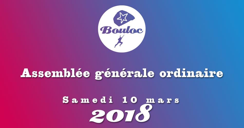 Bannière Facebook pour l'assemblée générale ordinaire Samedi 10 mars 2018