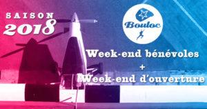 Bannière Facebook week-end bénévoles 24 et 25 février et week-end d'ouverture 3 et 4 mars 2018