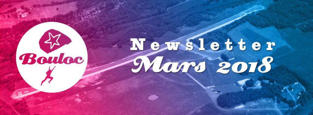 Newsletter Bouloc Skydive - Mars 2018