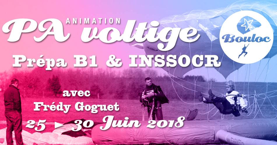 Bannière Facebook pour l'animation PA Précision d'Atterrissage et Voltige, préparation B1 et INSSOCR avec Frédy Goguet du 25 au 30 juin 2018