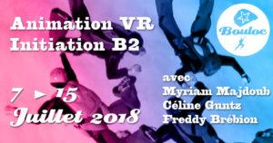 Bannière Facebook pour l'animation VR Vol Relatif et Initiation B2 du 7 au 15 juillet