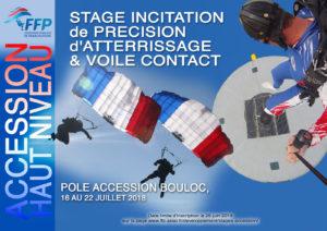 Stage accession haut niveau Précision d'Atterrissage et Voile Contact juillet 2018