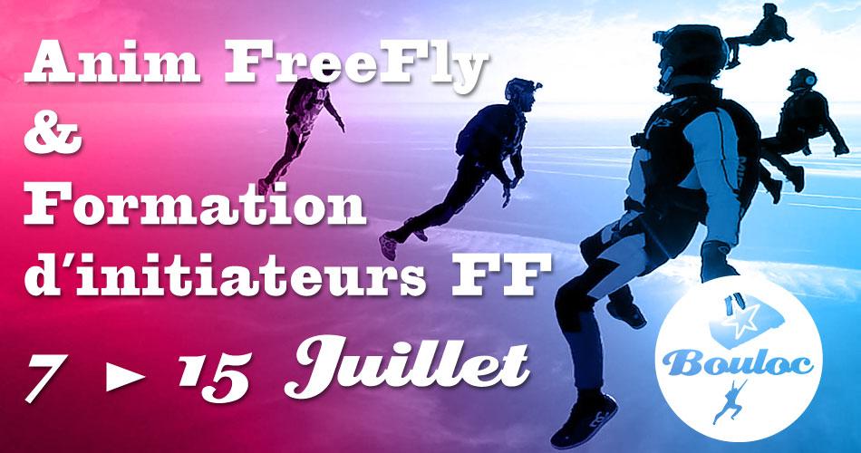 Bannière Facebook pour l'animation FF FreeFly et formation d'initiateurs du 7 au 15 juillet