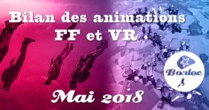 Bannière Facebook : Bilan des animations FF et VR du mois de mai 2018