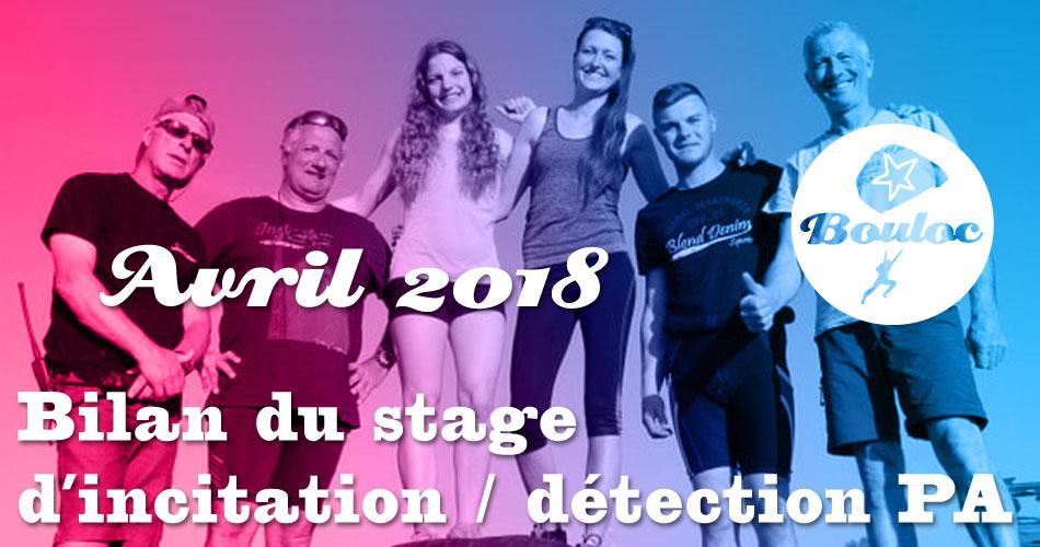 Bannière Facebook : Bilan du stage d'incitation et détection PA d'avril 2018