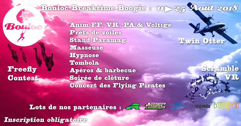 Bannière Facebook pour le Bouloc Breaktime Boogie août 2018