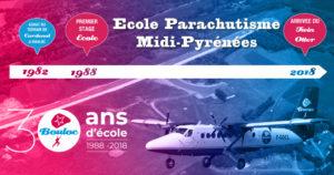 Bannière Facebook pour les 30 ans du premier saut école à Bouloc Skydive
