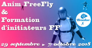 Bannière Facebook pour l'animation FF FreeFly et formation d'initiateurs du 29 septembre au 7 octobre