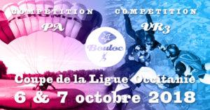 Bannière Facebook pour la Coupe de la Ligue Occitanie VR et PA : étape finale à Bouloc les 6 et 7 octobre 2018