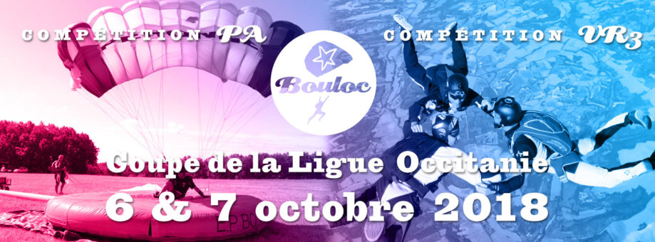 Bannière web pour la Coupe de la Ligue Occitanie VR et PA : étape finale à Bouloc les 6 et 7 octobre 2018