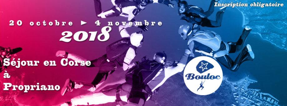 Bannière web pour le séjour en Corse à Propriano à l'automne 2018, du 20 octobre au 4 novembre