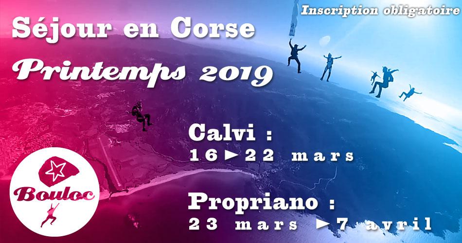 Bannière Facebook pour le séjour en Corse à Propriano et Calvi au printemps 2019, mars et avril