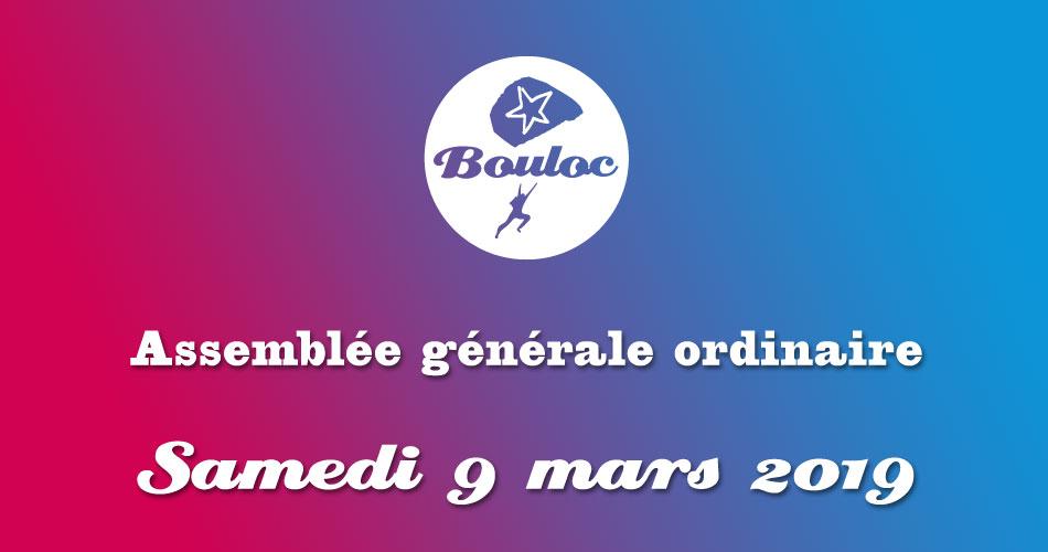 Bannière Facebook pour l'assemblée générale ordinaire Samedi 9 mars 2019