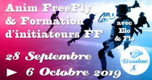 Bannière Facebook pour l'animation FF FreeFly et formation d'initiateurs du 28 septembre au 6 octobre 2019