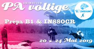 Bannière Facebook pour l'animation Précision d'Atterrissage et Voltige, initiation au brevet B1 et préparation au concours INSSOCR du 20 au 24 mai 2019