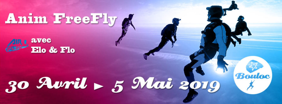 Bannière web pour l'animation FF FreeFly du 30 avril au 5 mai 2019