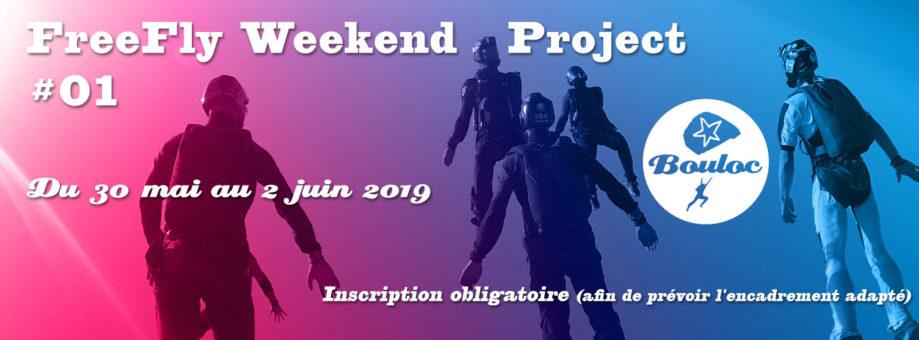 Bannière web pour le FreeFly Weekend Project #01 : du 30 mai au 2 juin 2019