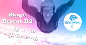 Bannière Facebook pour le stage brevet B2 du 24 au 30 juin