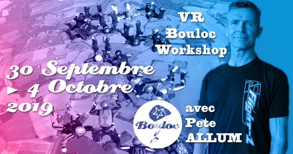 Bannière Facebook pour le VR Bouloc Workshop avec Pete ALLUM du 30 septembre au 4 octobre 2019