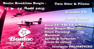 Bannière Facebook pour le Bouloc Breaktime Boogie été 2019 : du 15 au 24 août