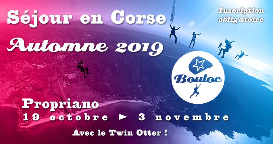 Bannière Facebook pour le séjour en Corse à Propriano à l'automne 2019, octobre et novembre