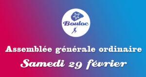 Bannière Facebook pour l'assemblée générale ordinaire samedi 29 février 2020