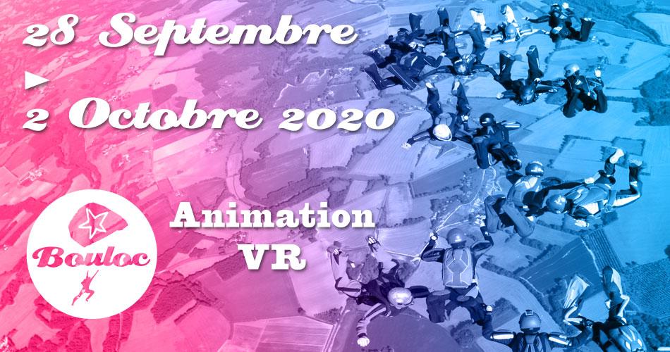 Bannière Facebook pour l'animation VR Vol Relatif du 28 septembre au 2 octobre 2020