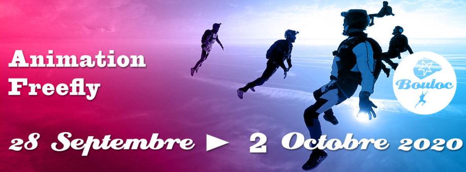 Bannière web pour l'animation Freefly du 28 septembre au 2 octobre 2020