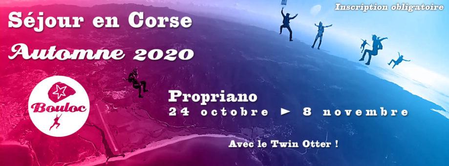 Bannière web pour le séjour en Corse à Propriano à l'automne 2020, octobre et novembre