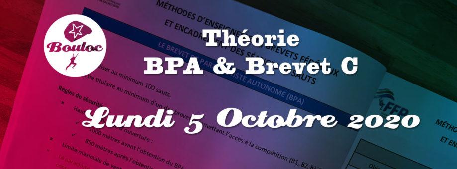 Bannière web pour la théorie BPA et brevet C du lundi 5 octobre 2020